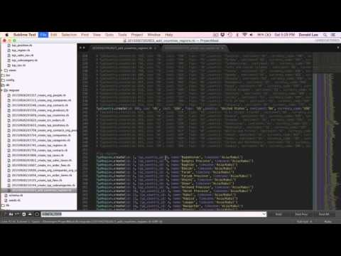 Ruby on Rails Tutorial 07 Add Data to Tables from The Start Using Migrations