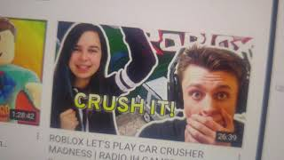 Roblox Car crusher and Roblox live laughs about sketch saying funny stuff