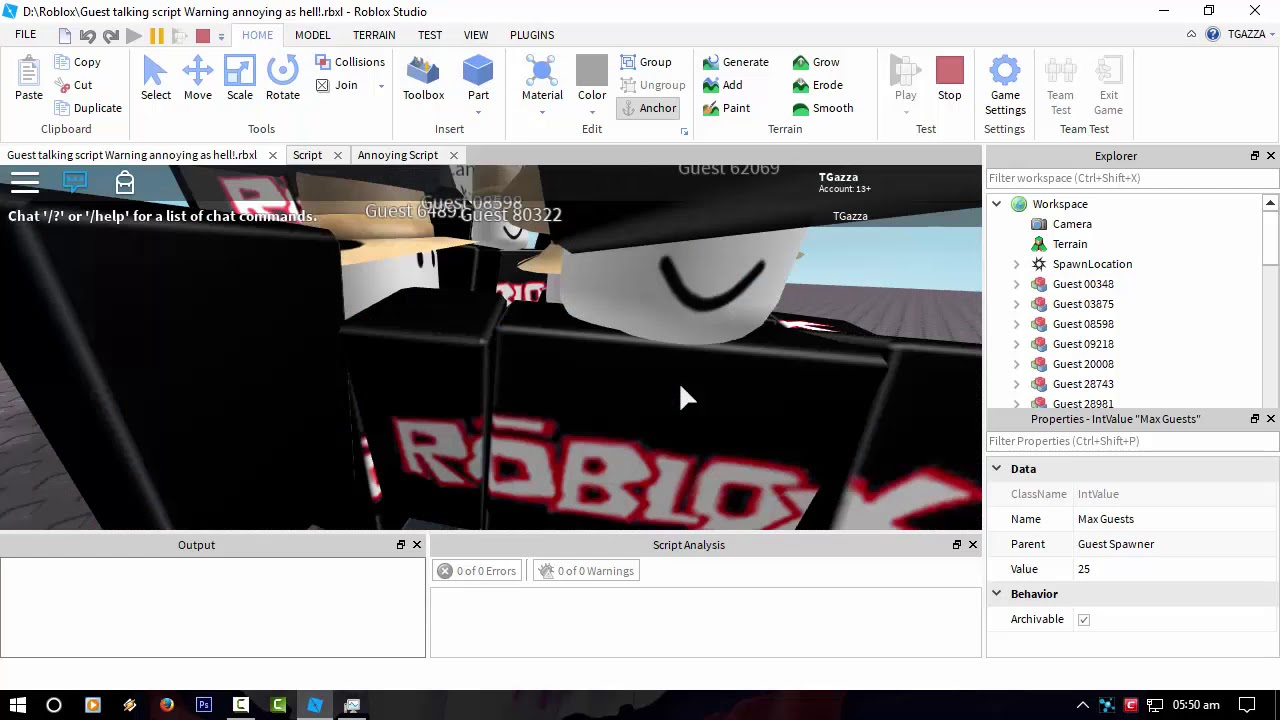 Roblox Projects Annoying Chatting Guest Ai Youtube