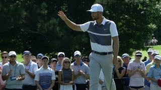 Kevin Chappell pours in a 28-footer at the TOUR Championship