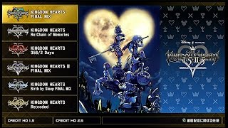 All Kingdom Hearts 1.5 + 2.5 PS4 Menu and Opening Theme 1080p 60fps