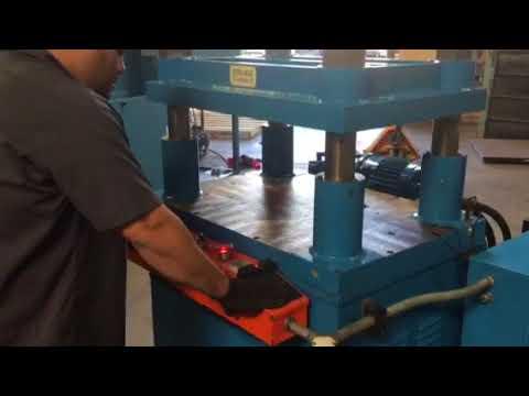 "Hess Mae 29 Ton Four Column Hydraulic Platen Press Machine 24"" x 24"" Flat Plate"