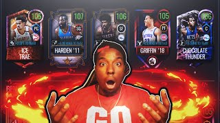 PLAYING WITH MY 100 MILLION COIN TEAM IN NBA LIVE MOBILE!!!