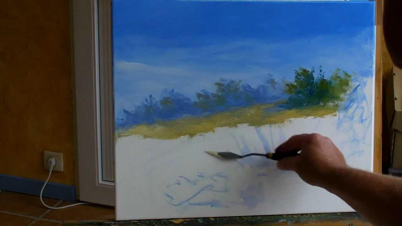 Souvent Sous les arbres 1/3. Pascal CLUS Peinture au couteau Painting  PB99