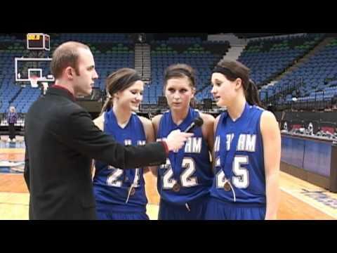 2011 state tournament  Braham's Hannah Dahlman, Kelsey SorensonGiffrow and Rebekah Dahlman