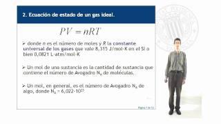 Ecuación de estado de un gas ideal.© UPV