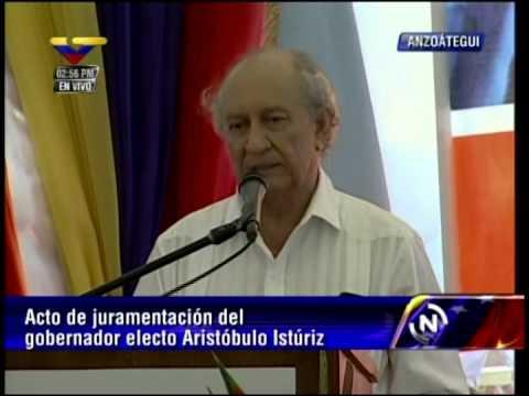 Discurso de Gustavo Pereira en la toma de posesión de Aristóbulo Istúriz