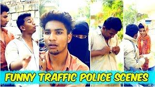 Funny Traffic Police Scenes || Hyderabadi Comedy || Warangal Diaries