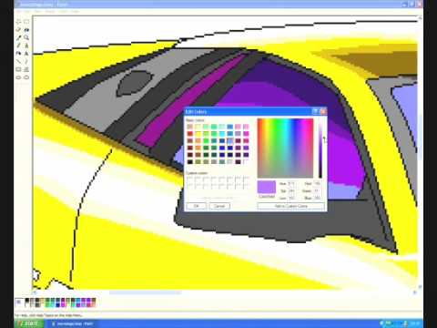 how to draw a car in paint