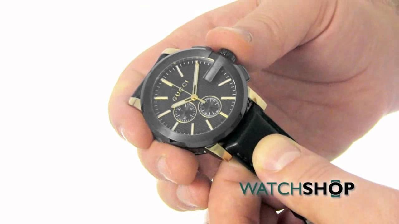 e9f49ff2e45 Gucci Men s G-Chrono Chronograph Watch (YA101203) - YouTube
