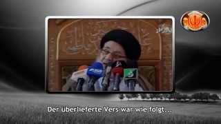 Taqiyyah von shiitschem Rabbi über die Veränderung des Qur'ans