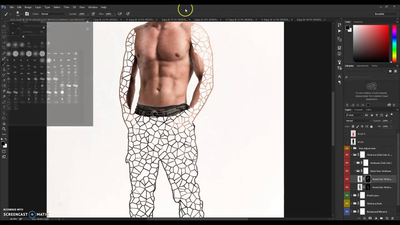 Wireframe Photoshop Action Tutorial