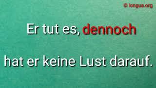 Deutsch lernen - Learn German: Konjunktion: dennoch