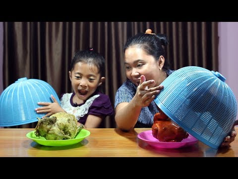 Squishy Food VS Real Food Challenge Indonesia - Hore Makan Ayam Beneran