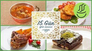 Ramazan 15. Gün İftar Menüsü: Kereviz Pane - Köfteli Erişte Çorbası - Kuzu İncik - Islak Kek