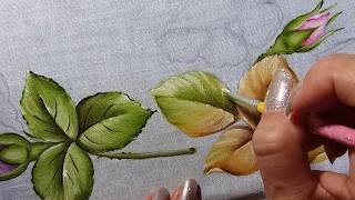 Folhas – Parte 2 – Pintura em tecido