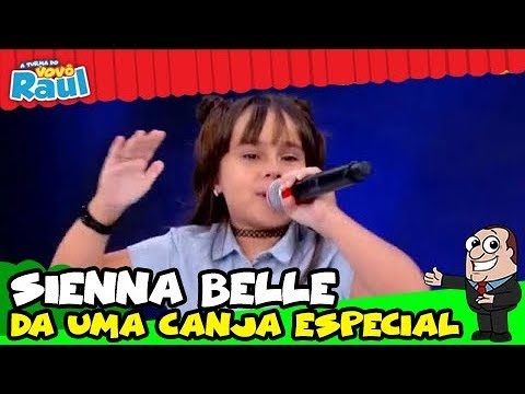 SIENNA BELLE surpreende com CANJA no palco do PROGRAMA RAUL GIL