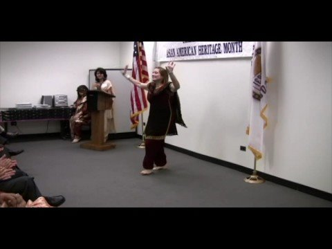 Shamila performs Bhangra for the Clerk of Cook Cou...