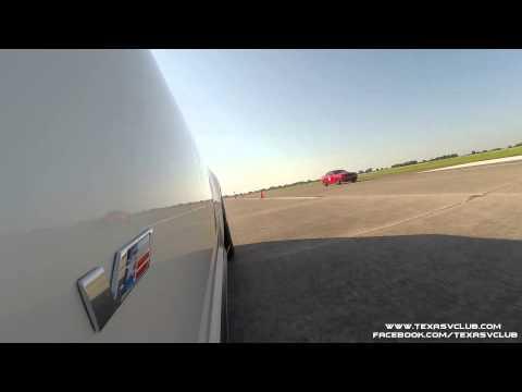 Cadillac CTS-V (691 rwhp) vs Dodge Challenger Hellcat (635 rwhp) - Runway Rivalry