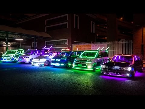 The Crazy Neon LED Sound Vans of Japan