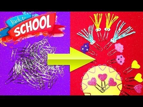 Back To Shool 2019! 4 DIY paper pin decoration ways | LIFE HACKS