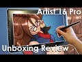 XP-Pen Artist 16 Pro Pen Display Drawing Tablet UNBOXING REVIEW