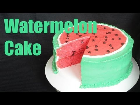Recipe For Watermelon Shaped Cake