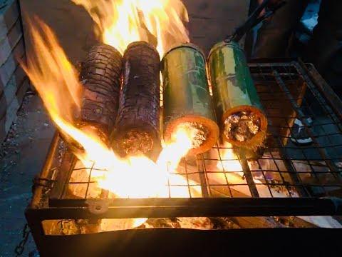 Bamboo Chicken in Hyderabad | Amazing Indian Street Food | Healthy Chicken