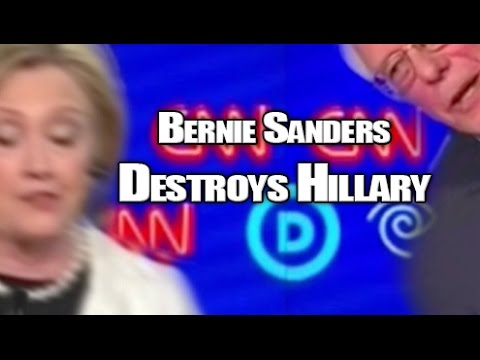 Bernie Sanders destroys Hillary Clinton in primary debate on Vermont gun control