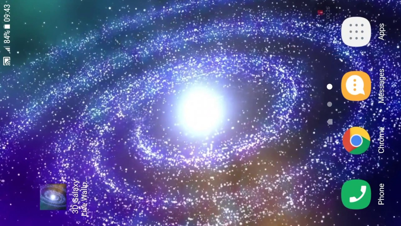 3d galaxy live wallpaper - youtube