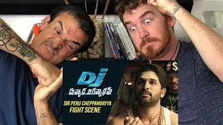 SIR Peru Cheppandayya Fight Scene REACTION! | Allu Arjun | DJ Duvvada Jagannadham