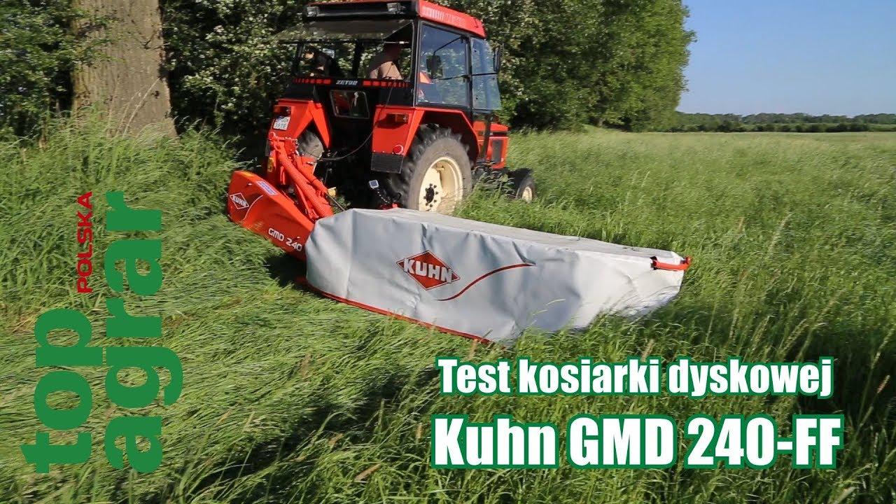 Ostre cięcie kosiarki dyskowej Kuhn GMD 240-FF – test top agrar Polska