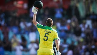 Finch acknowledges Hughes after bringing up emotional ton | Dettol ODI Series 2020