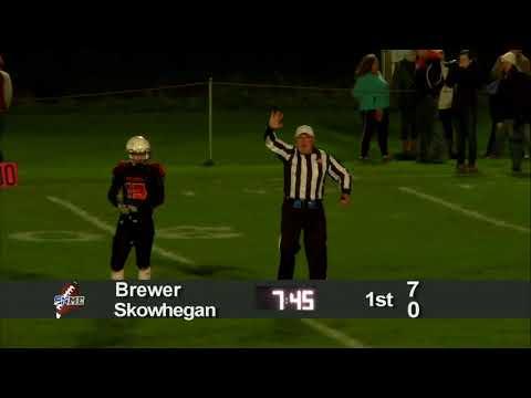 Brewer at Skowhegan Football
