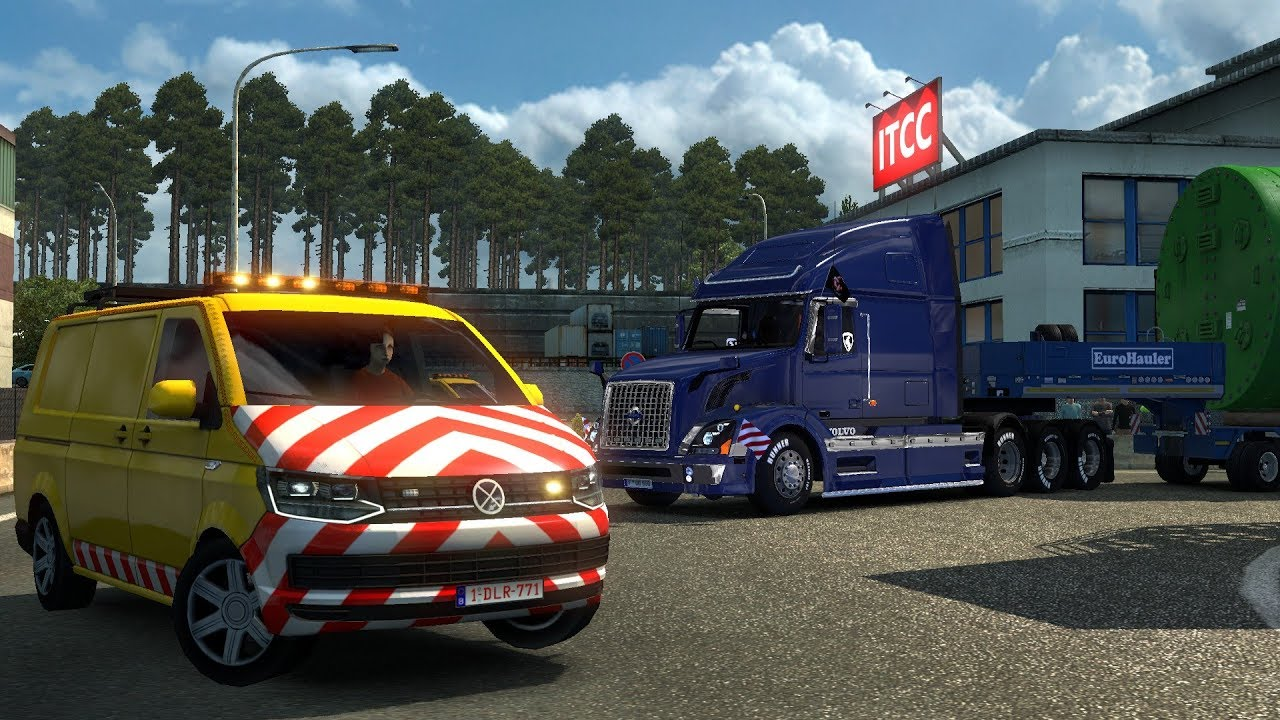 special transport dlc english gameplay euro truck. Black Bedroom Furniture Sets. Home Design Ideas