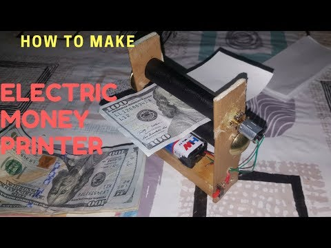 DIY: How to Make a Electric Money Printer Machine..  MAGIC TRICK