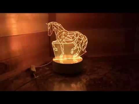 Horse LED Tabletop Lamp