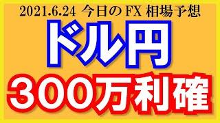 【ドル円】ロング全利確で+300万増!ユーロ円はFibo61.8%で売りエントリー発生!GBPUSDも売れるか?【2021/6/24.FX相場予想】