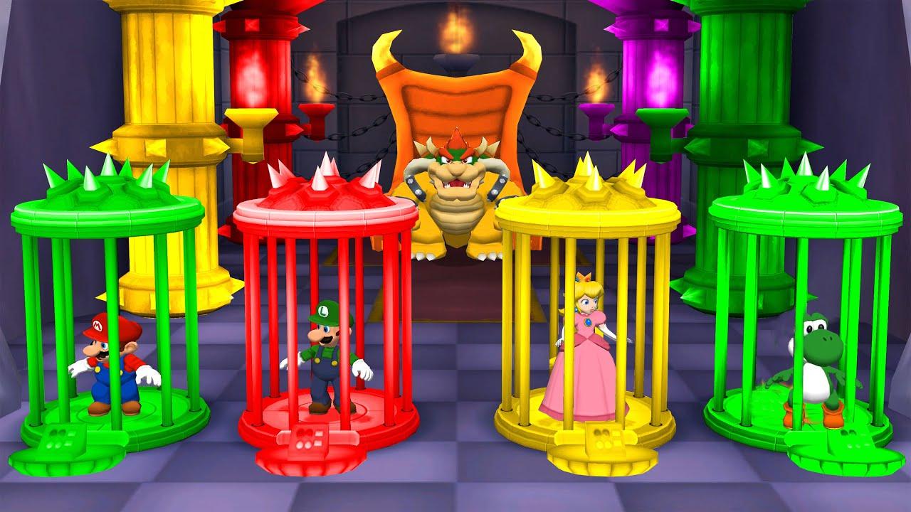 Mario Party 5 Minigames Mario Vs Luigi Vs Yoshi Vs Peach Master