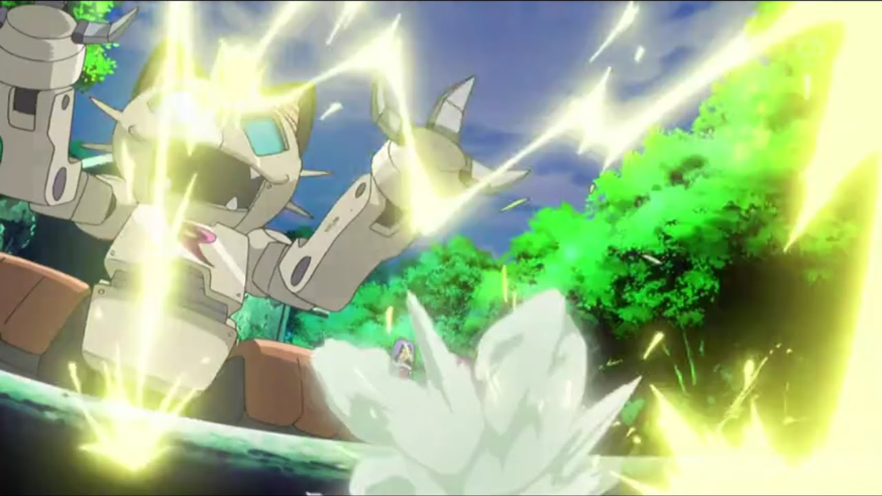 Pokemon X Y 10 `Harimaron vs. Mega Mega Nyarth!!` ポケモン X Y10