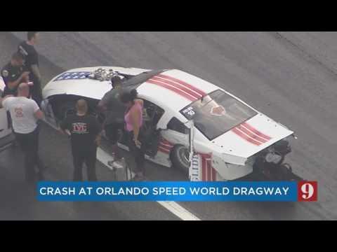 Billy Glidden Crash at Orlando Speed World Dragway