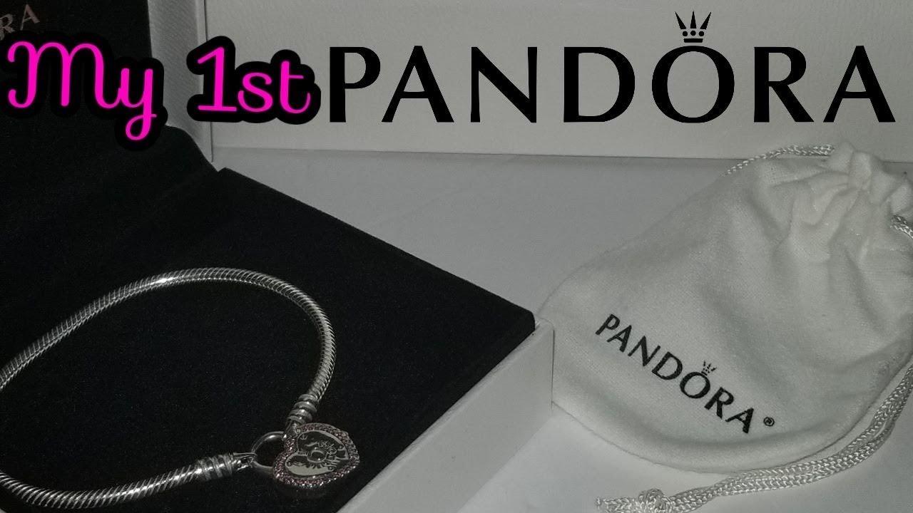 My First Pandora Bracelet Unboxing Pandora Lock Your Promise Clasp Bracelet Youtube
