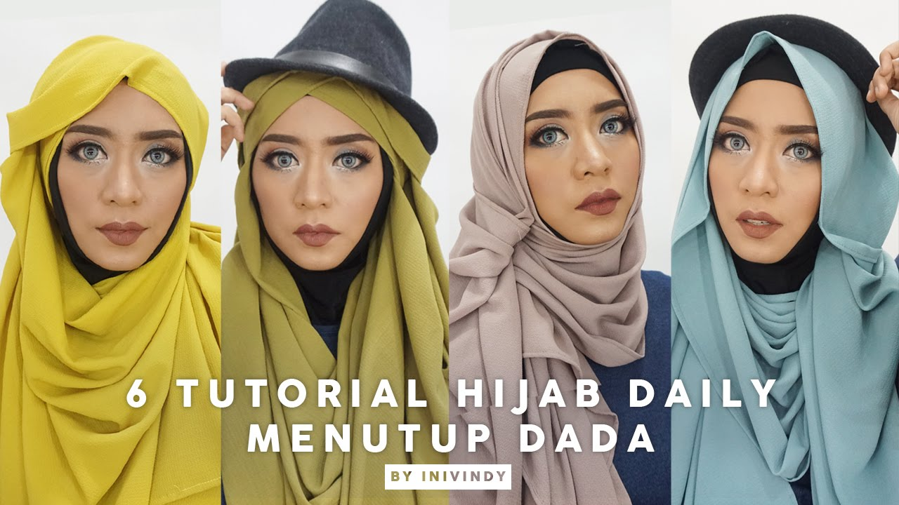 6 Tutorial Hijab Pashmina Menutup Dada Hijab Bubble 2 Meter