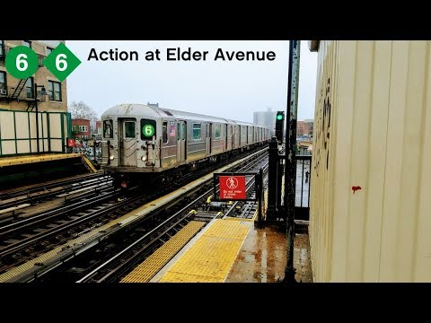 NYC Subway: Rainy IRT Pelham Line action at Elder Avenue