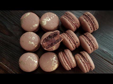 Шоколадные МАКАРОН на итальянской меренге🍫ПОДРОБНОЕ ВИДЕО🍫Chocolate Macaron Italian Meringue