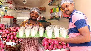 Dragon Fruit Milk shake | Amazing Health Benefits of Dragon Fruit | Street Kitchen