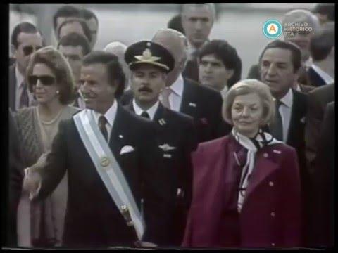 Menem e Isabel Perón en tedeum por Revolución de Mayo, 1994