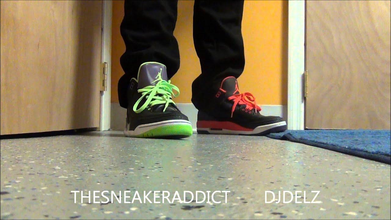 ce1e6c4a87166c Air Jordan III Crimson or Joker 3 Sneakers With  DjDelz  PickOne ...