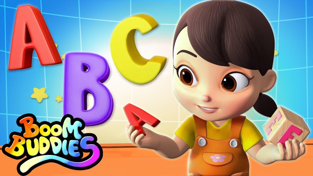 Canción abc | Videos para bebes | Educación | Boom Buddies Español | Dibujos animados