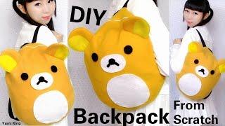 DIY Easy Backpack from Scratch | DIY Rilakkuma Backpack | Back to School DIY